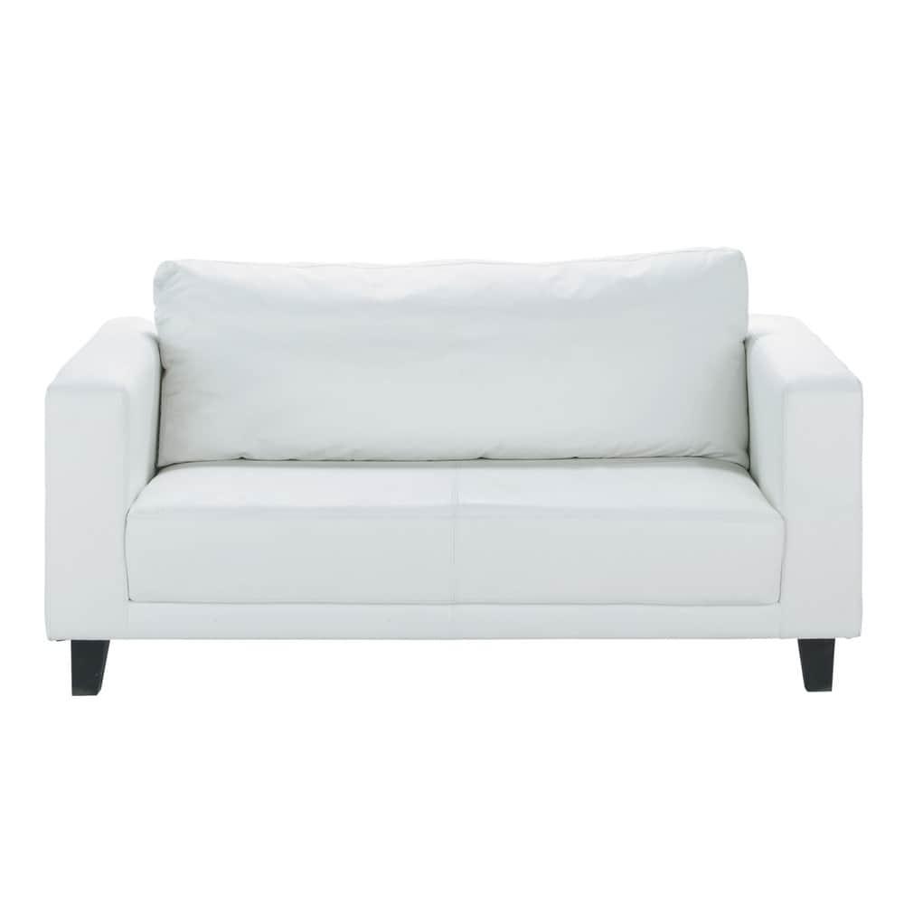 Canapé 2 places blanc Nikeo