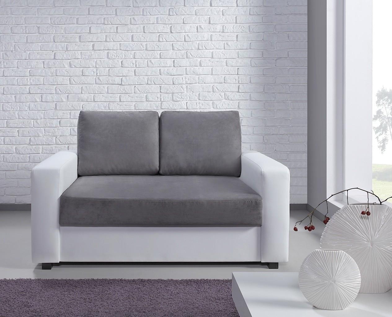 Canapé 2 places Esther blanc et gris
