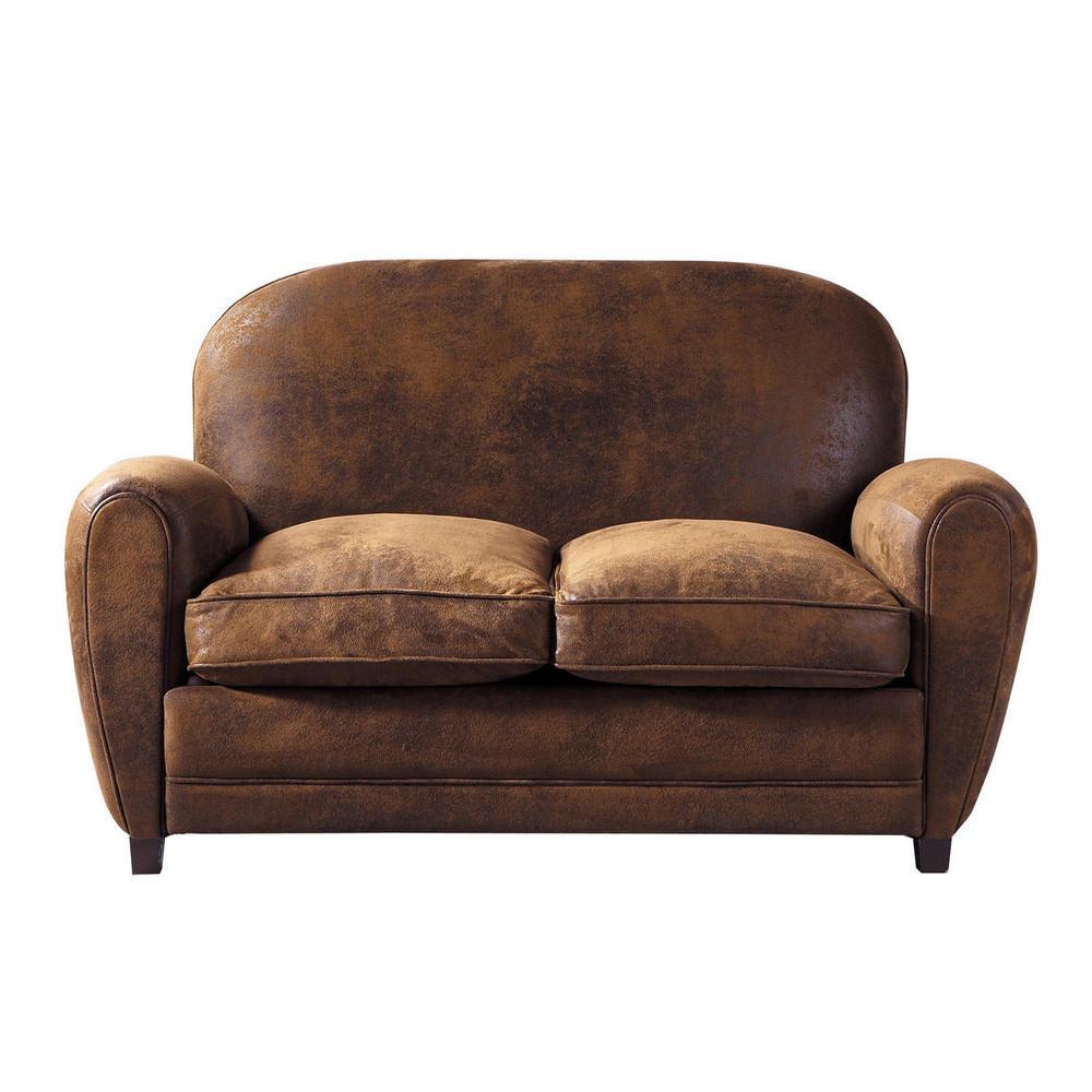 Canapé 2 places marron