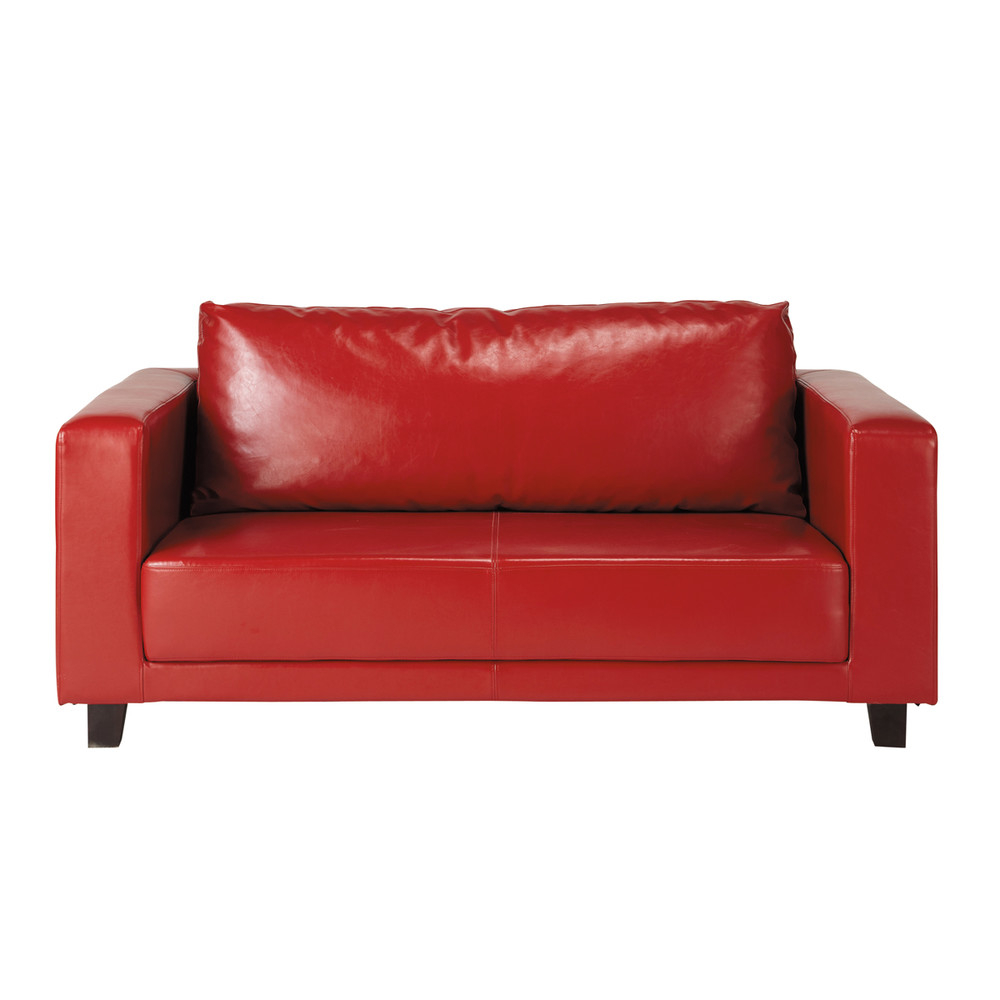 Canapé 2 places rouge Nikeo