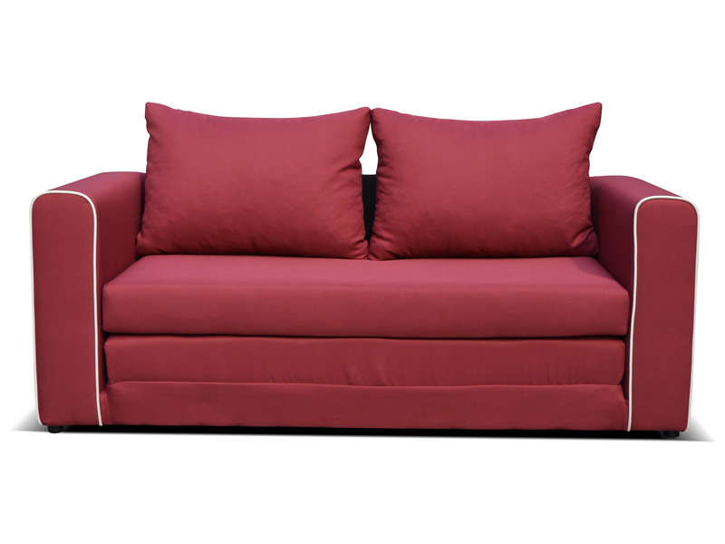 Canapé fixe convertible 2 places en tissu LAURA coloris