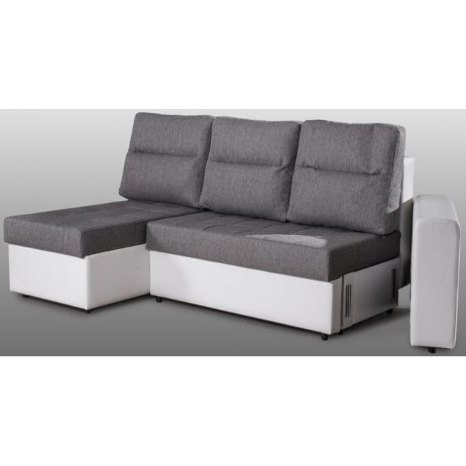 Canapé d angle convertible 3 places en tissu bicolore