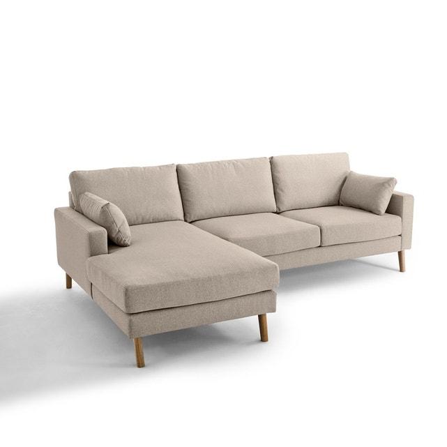 Canapé d angle fixe stockholm polyester chiné con La