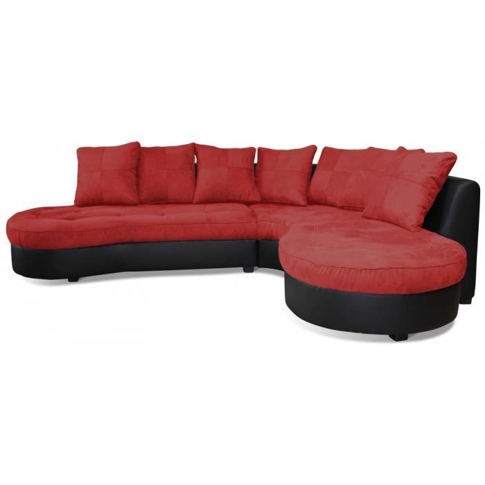 Canapé d angle Tissu microfibre 7 places SILAJ Achat