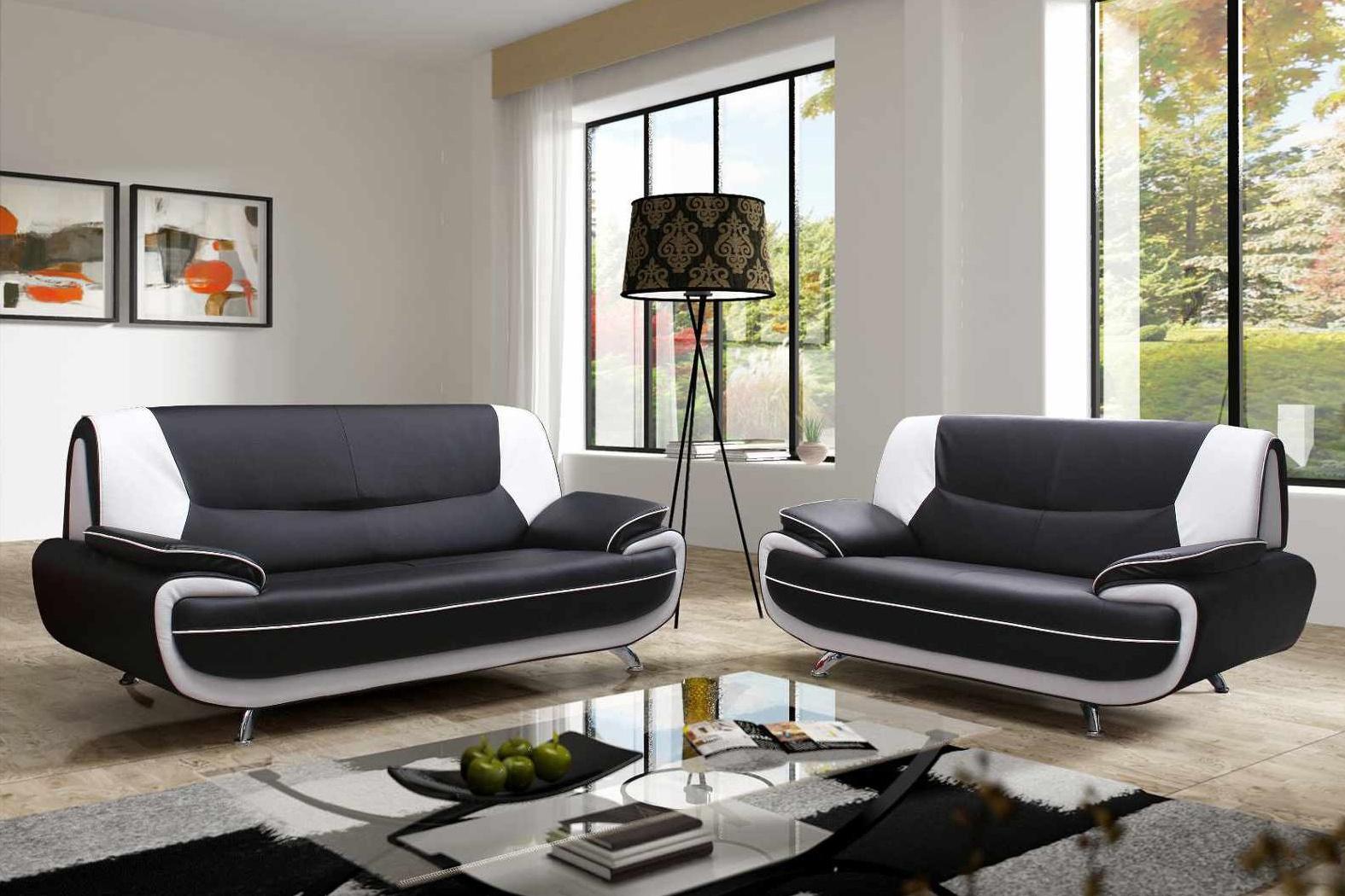 Photo Noir Et Blanc Design canapé 3 places blanc deco in paris canape 3 2 places design