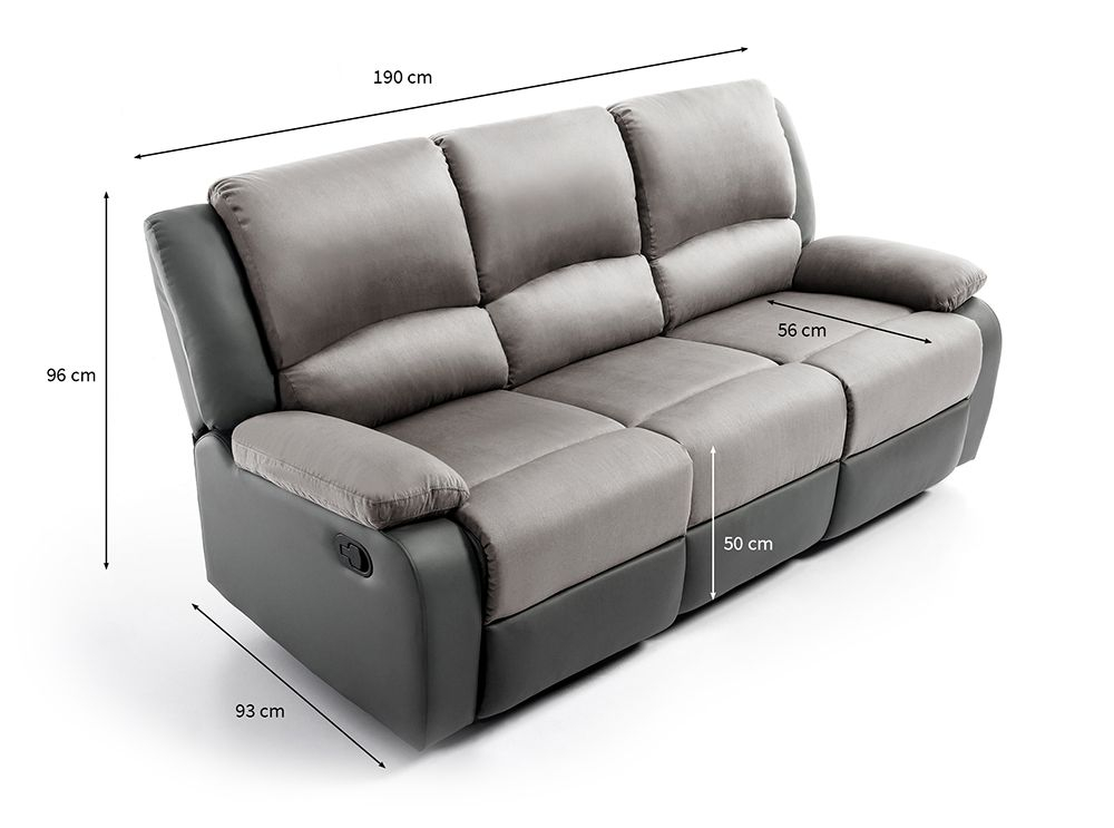Canapé Relaxation 3 places Microfibre Simili DETENTE