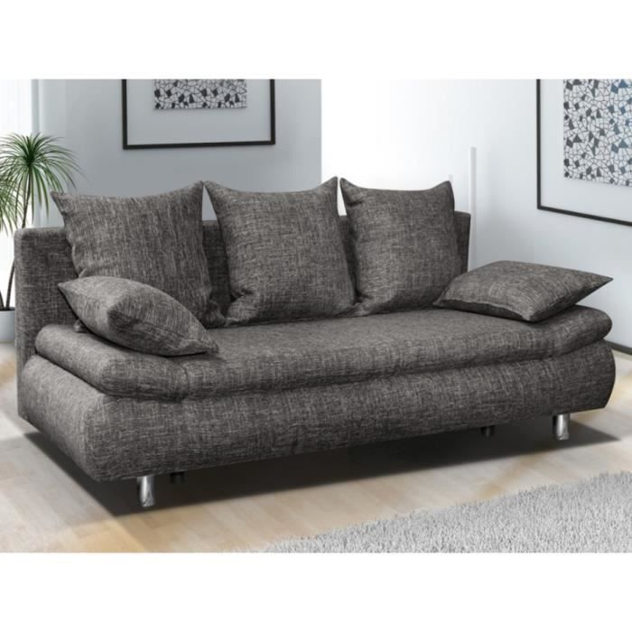 Canape 3 Places Gris Canapé 3 Places Convertible Felton Gris Chiné Achat
