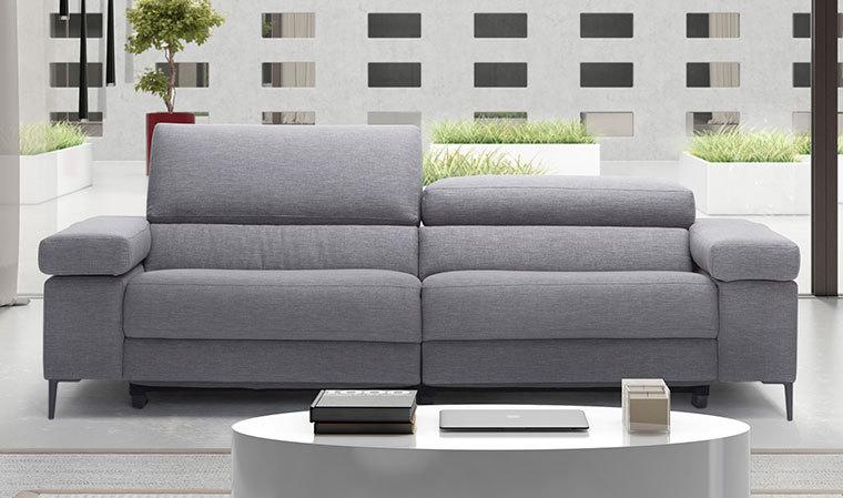 Canapé en tissu avec avec assise électrique relax