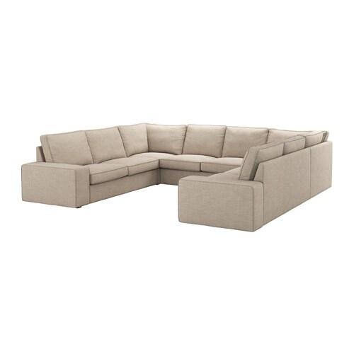 KIVIK Canapé en U 8 places Hillared beige IKEA