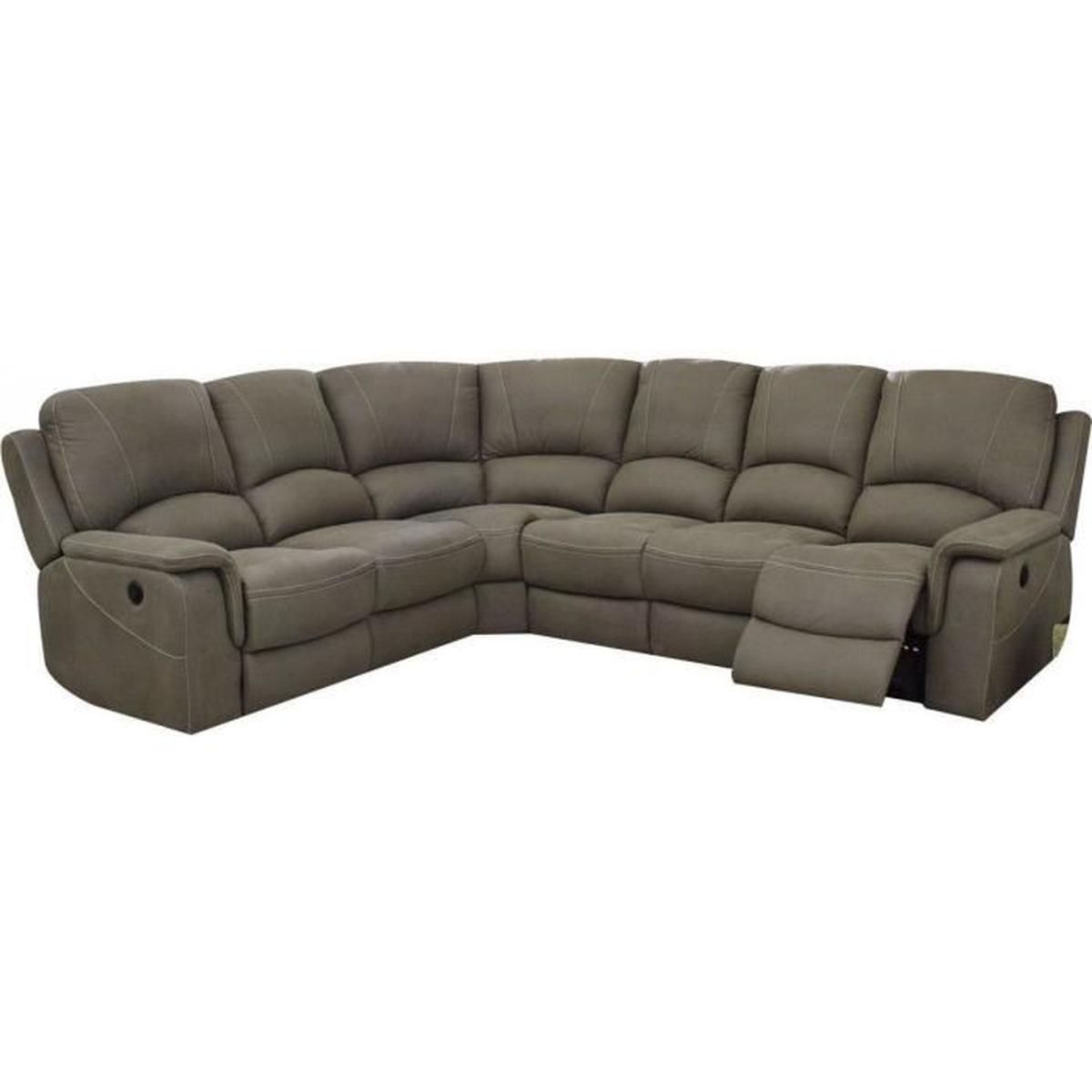 Canapé d angle réversible contemporain 6 places en tissu