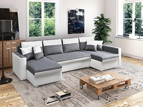 MEUBLO Grand canapé d angle panoramique Convertibles 6 7