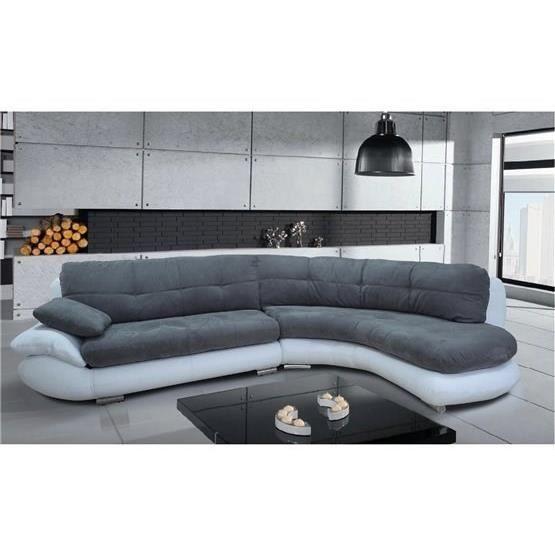 Canapé d angle Regal gris et blanc Angle droit Achat