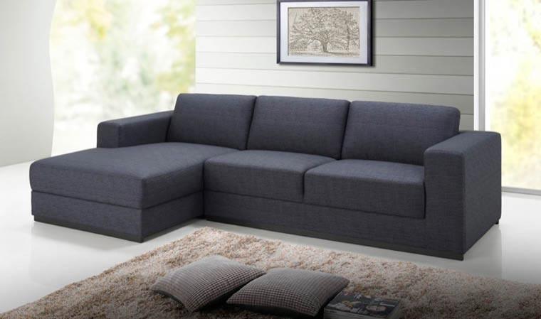 Canapé d angle design en tissu gris foncé anthracite Road