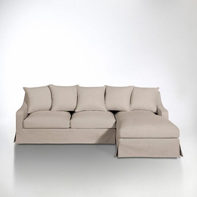 Canape Angle Convertible solde Canapé D Angle Coton Lin Convertible Confort Exce La