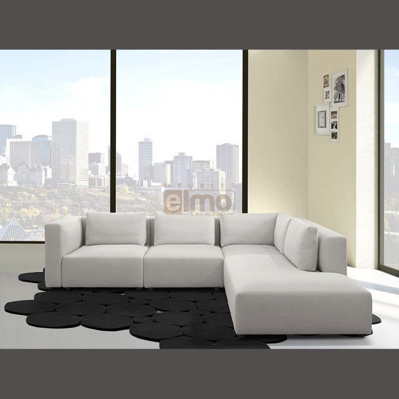 Canapé angle design contemporain tissu dehoussable BYBLOS