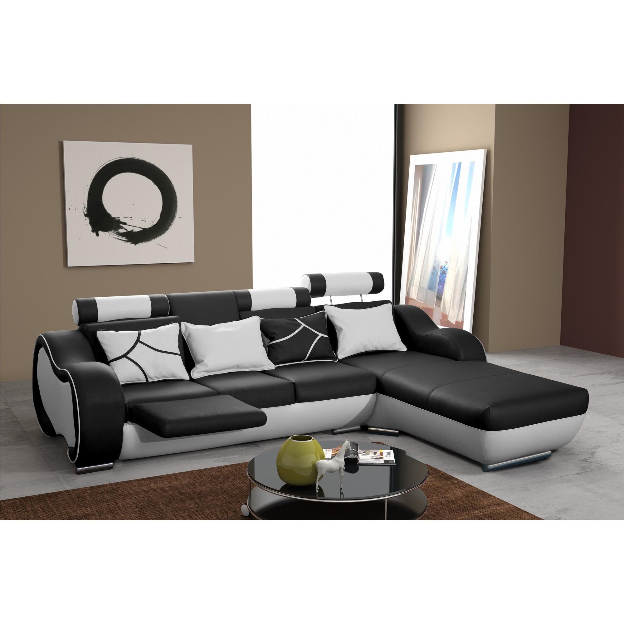 Canapé d angle design 3 places avec méri nne droite et