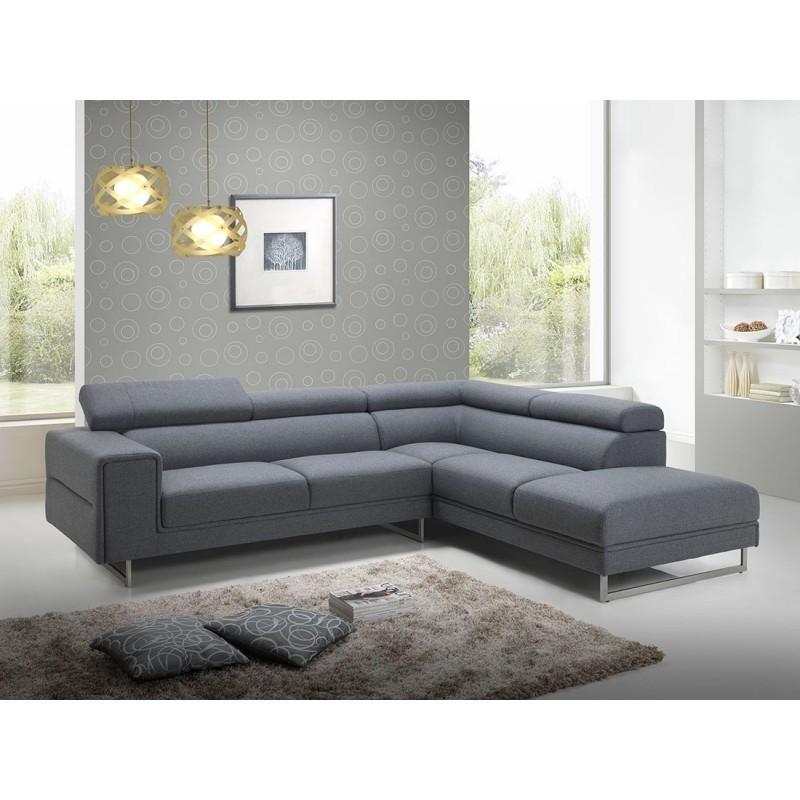 Canapé d angle Droit design 5 places avec méri nne