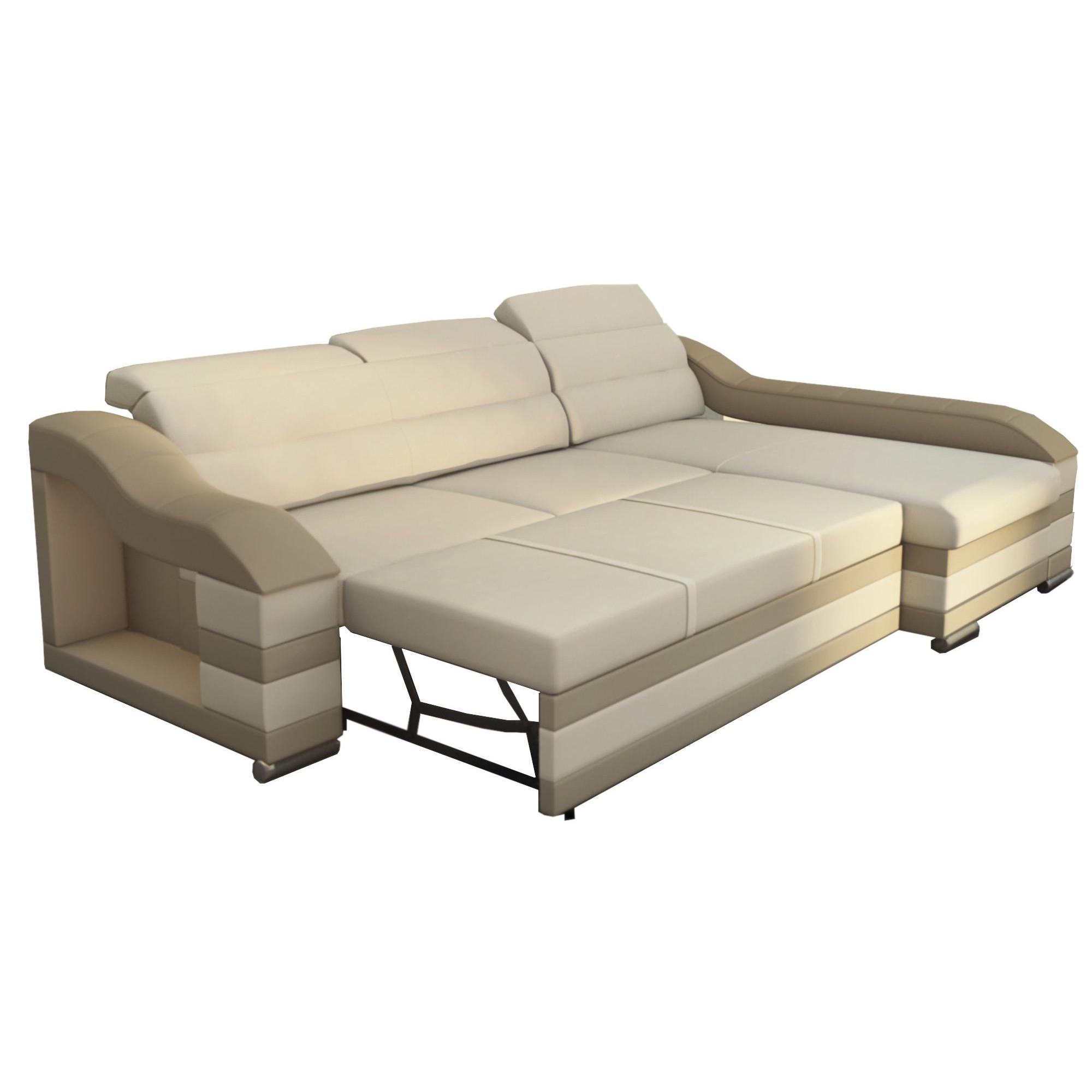 Canapé d angle convertible design avec méri nne gauche