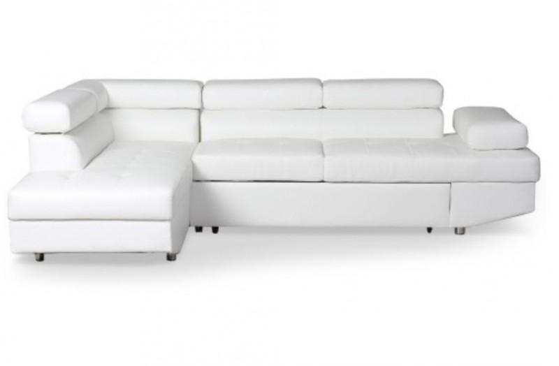 Canapé d angle gauche convertible avec têtières relevables