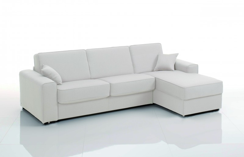 Canapé d'angle Cuir blanc Alpha Modéle 3 places