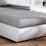 Canapé Angle Gris Et Blanc Canapé D Angle Convertible Gris Et Blanc En Tissu Et
