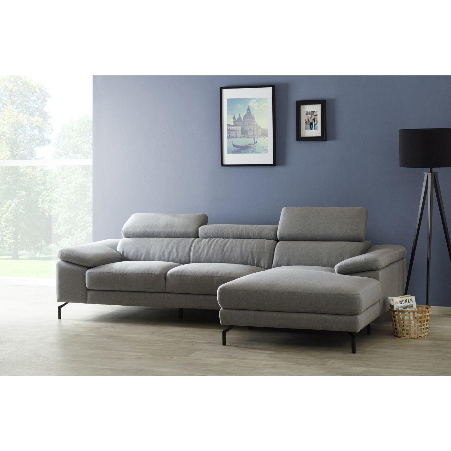 Salon Canapé d angle réversible design en tissu coloris