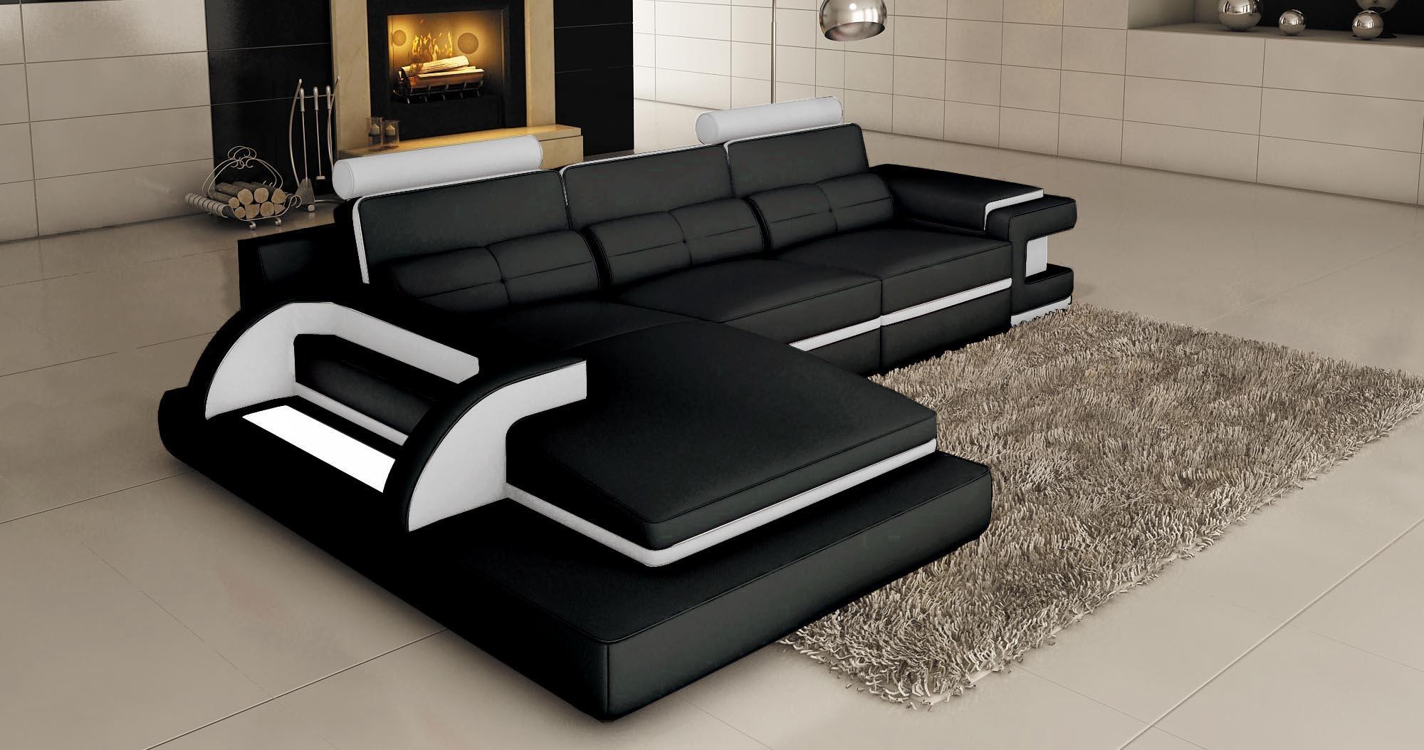 Photo Noir Et Blanc Design canapé angle noir et blanc deco in paris canape d angle cuir
