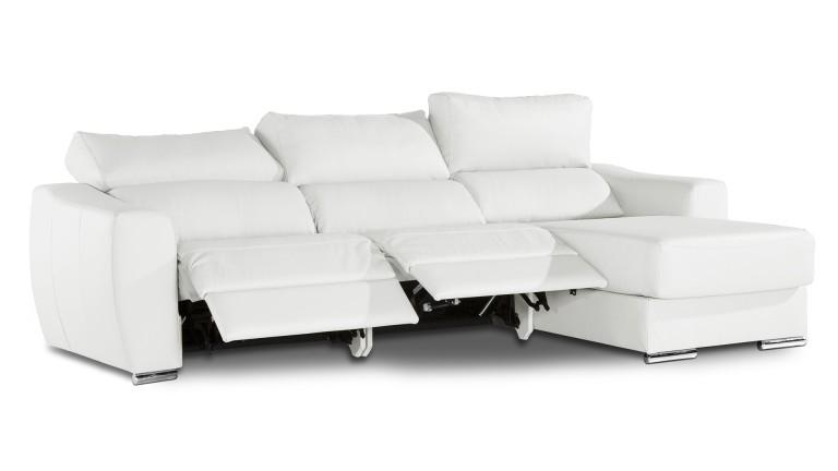 Canapé angle cuir Agueda relax électrique Mobilier Moss