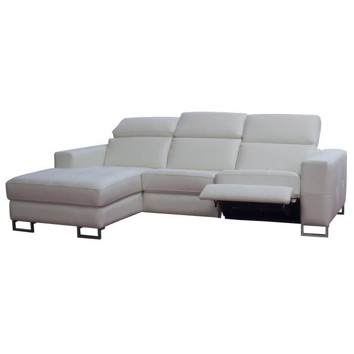 Canapé d angle en cuir avec relax électrique latéral