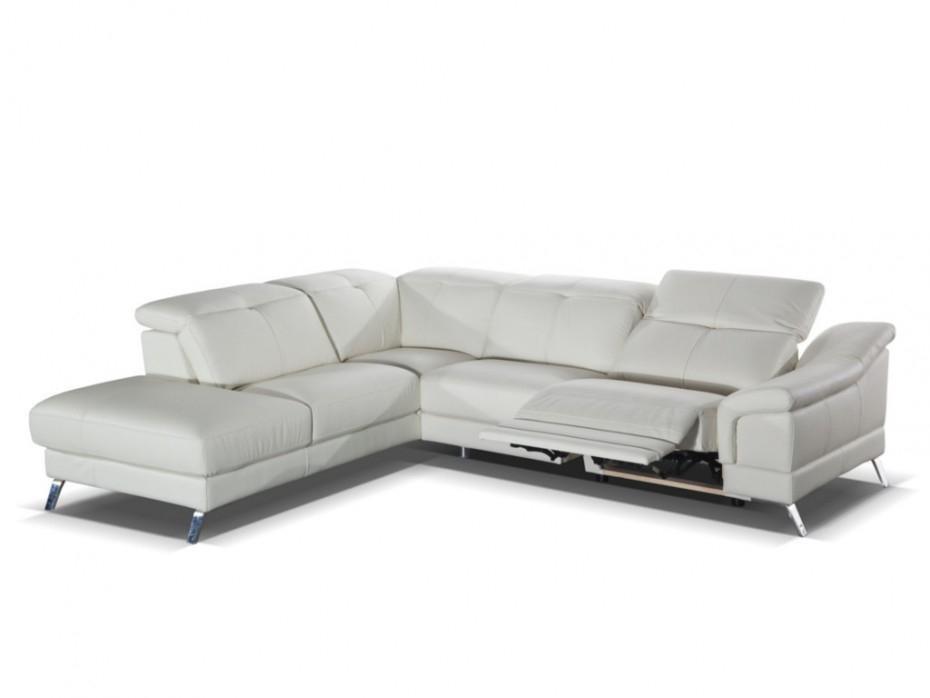 Canapé d angle relax électrique en cuir SARDAIGNE II