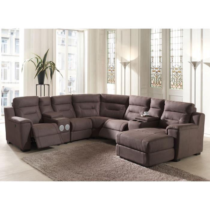 Canapé d angle Relax électrique sound system SUPRA L