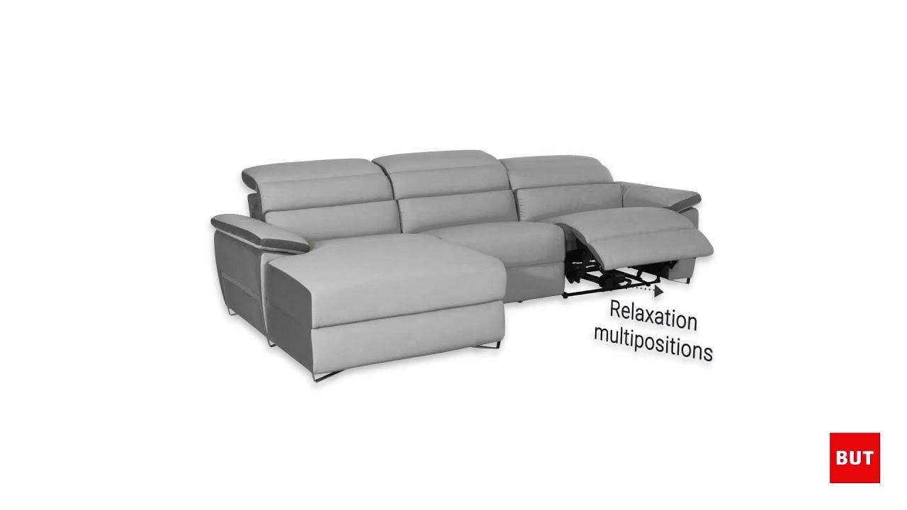 Canapé d angle relax électrique WINSTON BUT