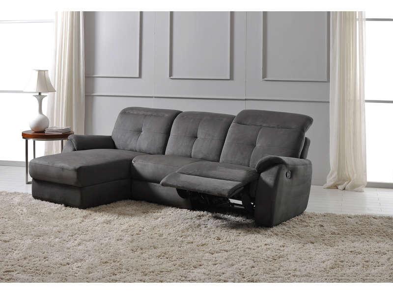 Canapé d angle relax manuel 3 pl ROSS Canapé Conforama