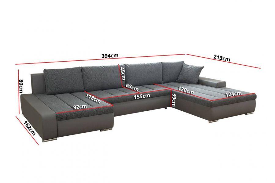 Canapé d angle convertible en u HALO Réversible chloe