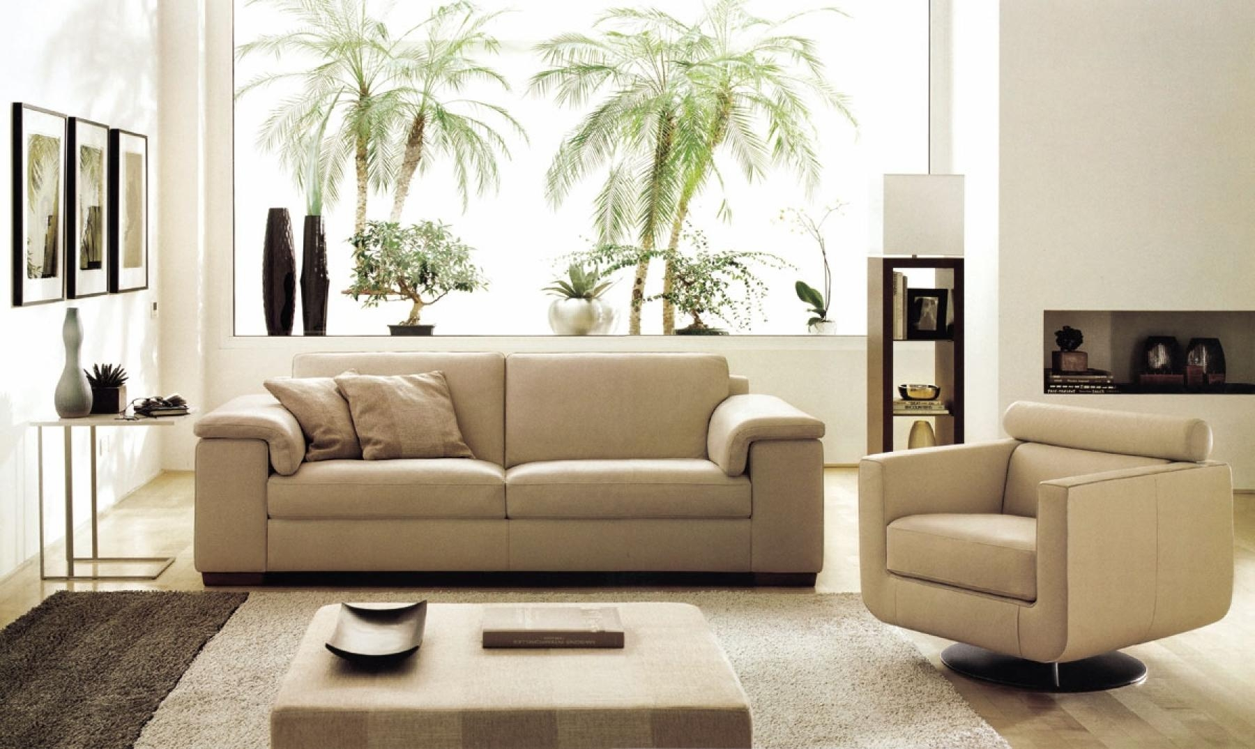 DECO IN PARIS Canape cuir beige 3 places romantica can