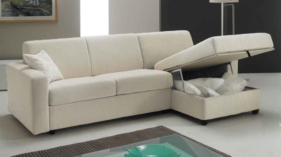 Canapé lit angle réversible couchage 140 cm tissu blanc