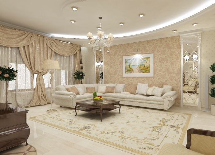 Decoration Salon Blanc Et Beige