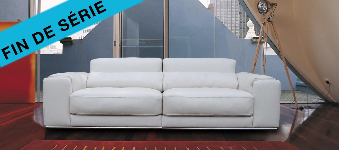 Canape cuir blanc design
