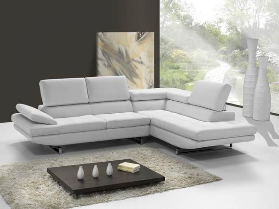 s canapé d angle cuir blanc italien