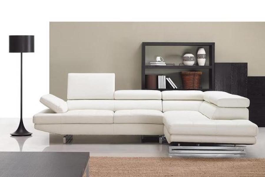 Canapé Blanc Design S Canapé D Angle Cuir Blanc Design