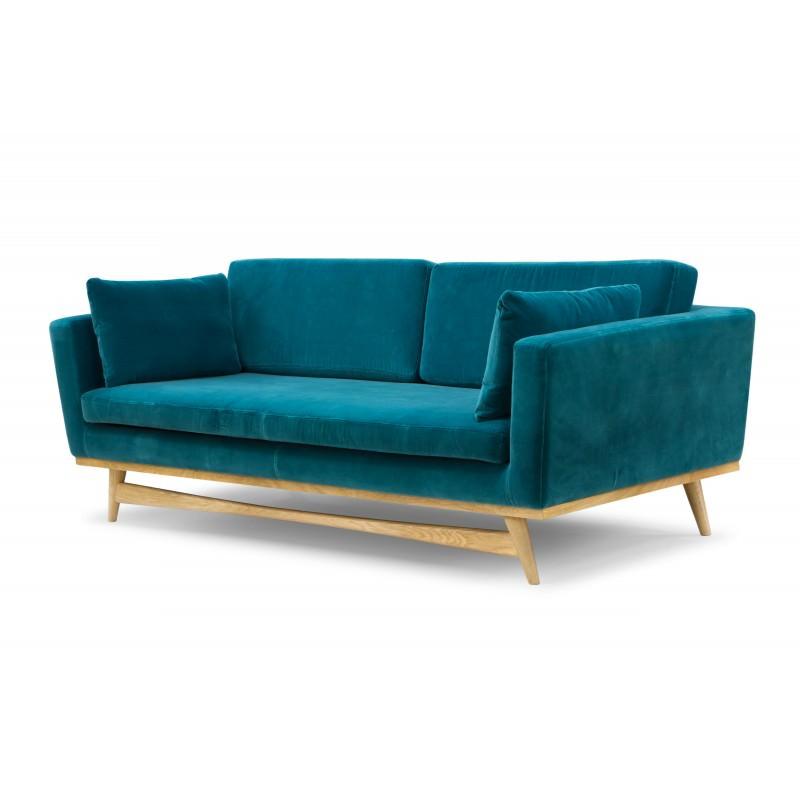Canapé Red Edition Fifties Velours Bleu Canard Atelier 159