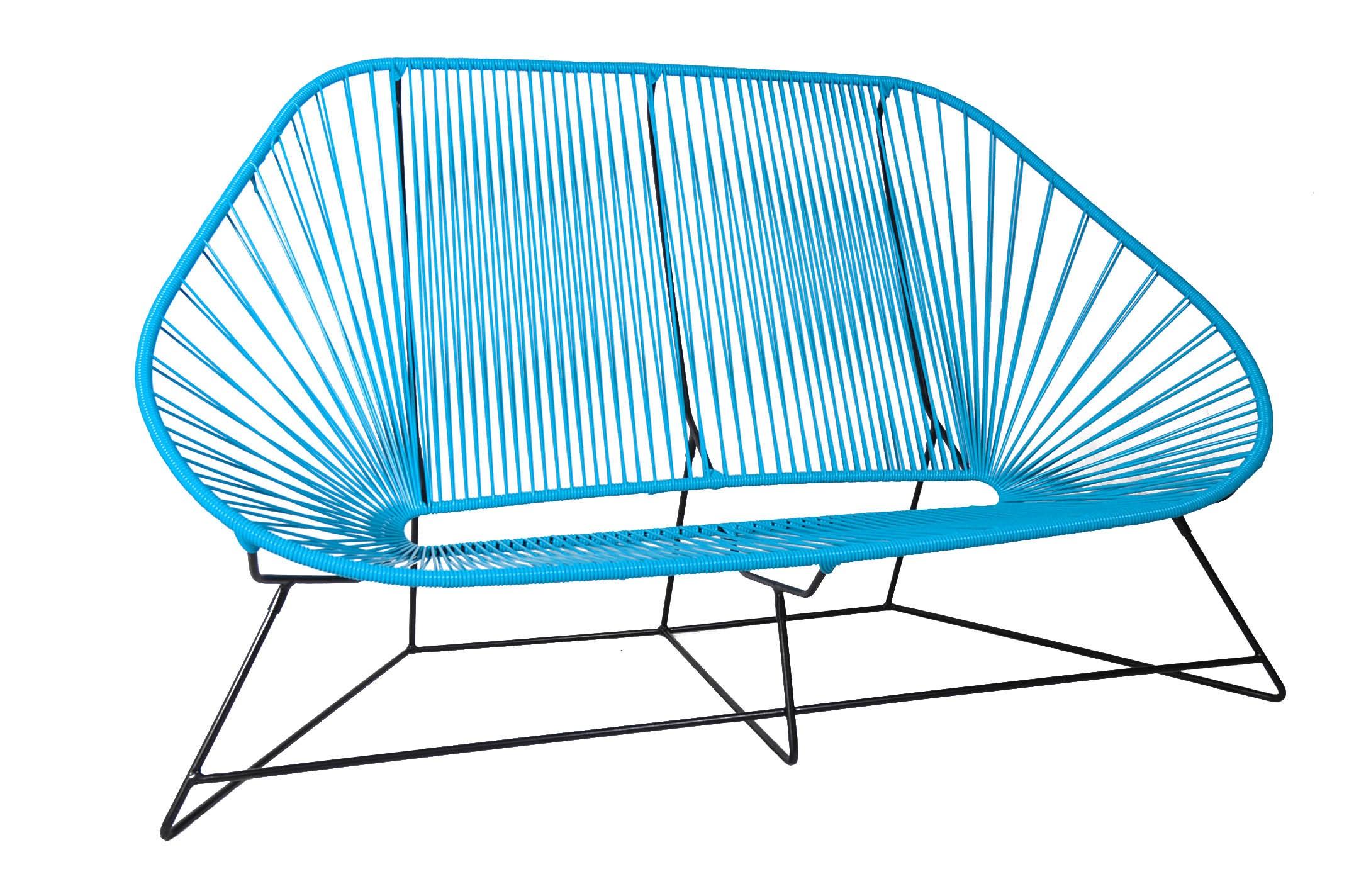 Canapé 3 places ACAPULCO de Boqa Bleu ciel