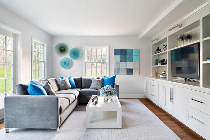 Bleu turquoise et gris en 30 idées de peinture et décoration