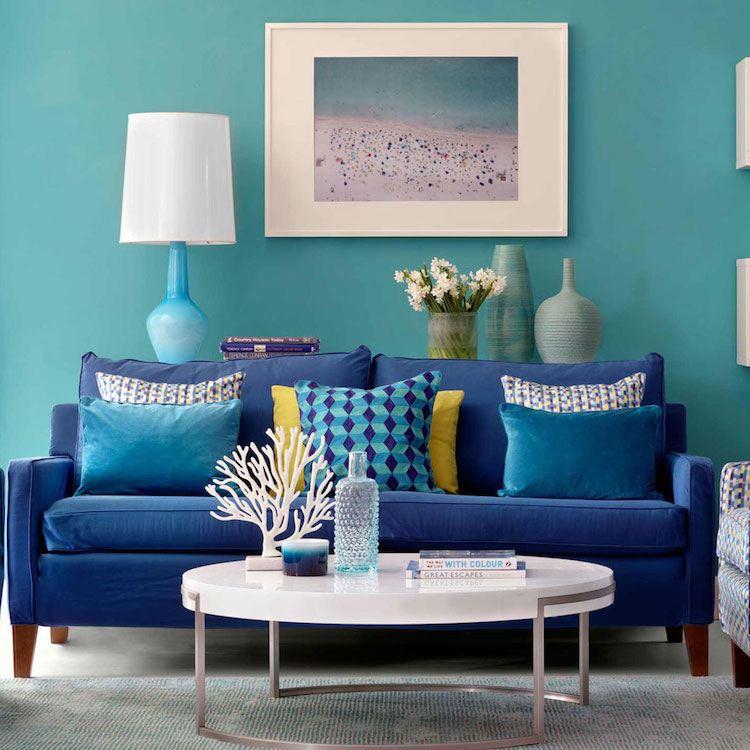 Deco Salon Bleu