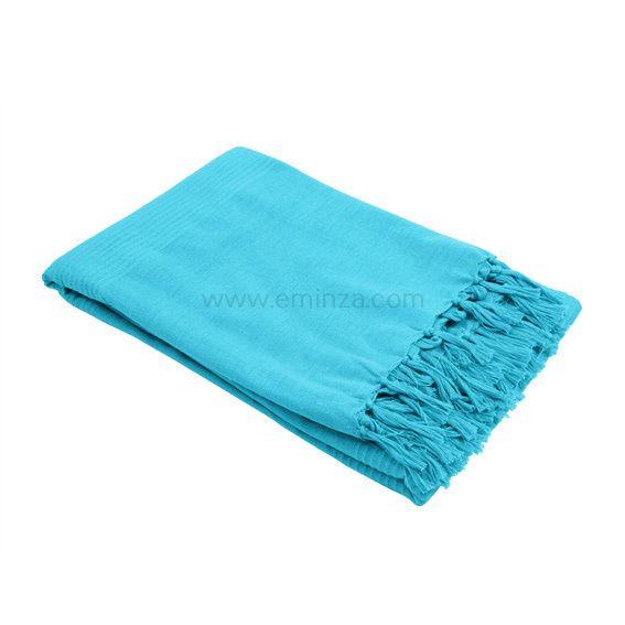 Jeté de canapé 180 cm Lana Bleu turquoise Jeté de