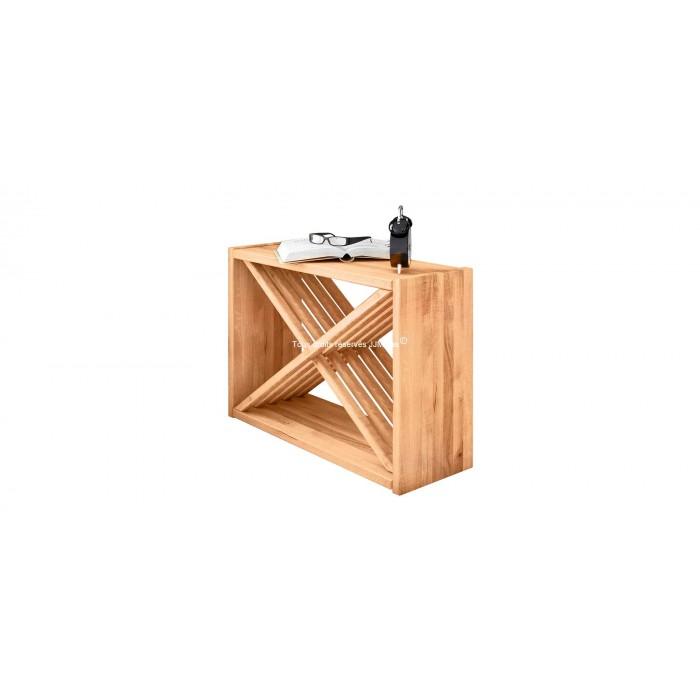 Bout de canapé en bois massif design CROSS