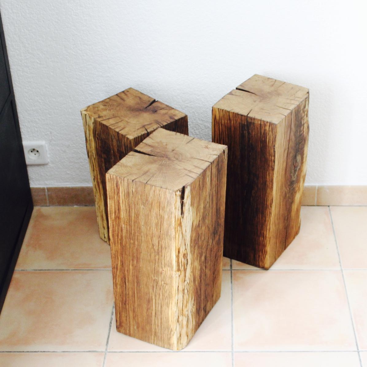Bout de canapé table de nuit bois massif Arty Décoration