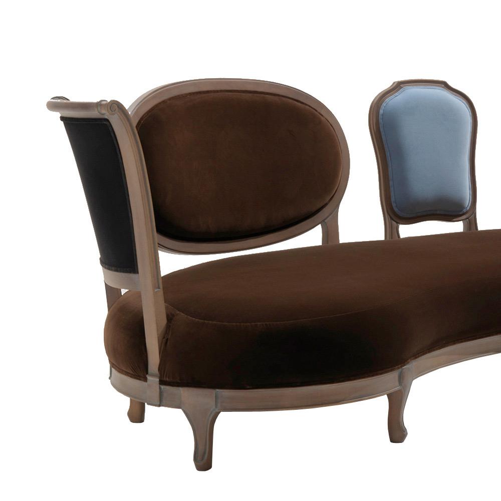 Canapé design luxe 5 dossier en bois massif produit en