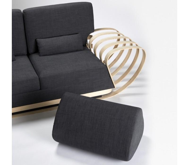 Canapé Adèle en bois et tissus Mobilier déco unique et