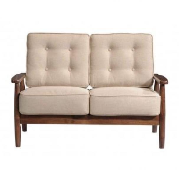 s canapé en bois et tissus